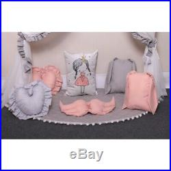 Kids Baby Bed Canopy Pillows Mosquito Net Curtain Tent Ligths teepe