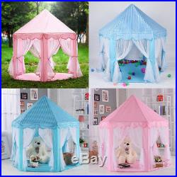 Kids Baby Princess Castle Playing Tent Boys Girls Indoor Outdoor Play House Fun