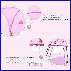 Kids Ball Pool Princess Play Tent Foldable Popup Ball Pit for Kids Pink, 45.3 3