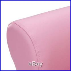 Kids Children Girls Pink Princess Faux Leather Armchair Seat Chair Footstool Set