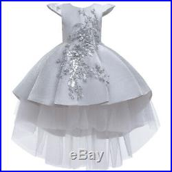 Kids Flower Tulle Princess Dresses Flower Girls Dress Pageant Costume Prom Gowns