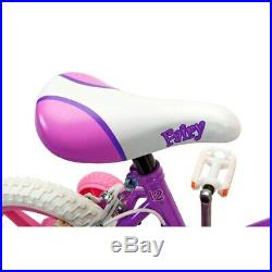 Kids Girls 12 Inch First Bike Princess Bicycle Pink Stabilizers Outdoor Ride On