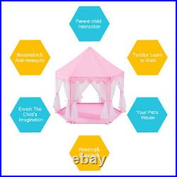 Kids Play Tent Children Kids Girls Princess Pink Large Castle Play Tent For