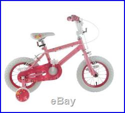 83171b7d668 Kids Princess 12 Inch Bike Bicycle Girls First Removable Stabilisers Pink  Frame