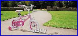 Kids Princess 12 Inch Bike Bicycle Girls First Removable Stabilisers Pink Frame