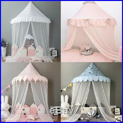 Kids Princess Bed Canopy Bedcover Mosquito Net Curtain Bedding Teepee Play Tent