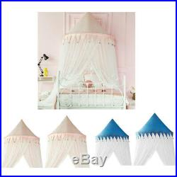 Kids Princess Bed Castle Canopy Mosquito Net Round Tent for Game House Accs
