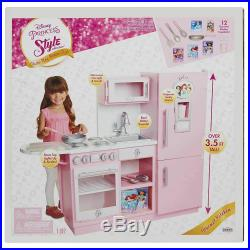Kids Princess Pretend Role Play Toy Kitchen Playset Accessories Pink Age 3+ New