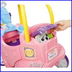 Little Princess Ride-on Horse and Toddler Carriage Toy Pink Nursery Kids Playset