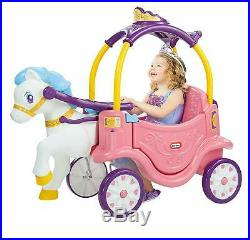 Little Tikes Princess Horse & Carriage Pink Ride-On, Kids Girls Gift