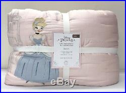 NEW Pottery Barn KIDS Disney Princess TWIN QuiltBLUSH PINK