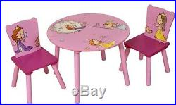 New Kids Table And Chair Set Childrens Table And Chairs Pink Princess Play Table