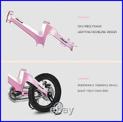 NiceC BMX Kids Bike with Dual Disc Brake for Boy and Girl 12 inch Princess Pink