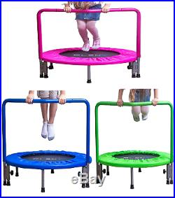 PLENY 36 Kids Mini Trampoline with Handle, Safety and Durable Toddler 3 Colour