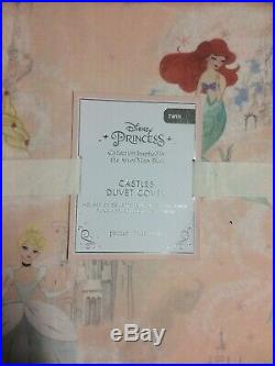 POTTERY BARN KIDS Disney Princess TWIN Castle Duvet Cover NEW Pink