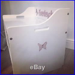 Personalised kids bedroom furniture toy box safety hinge choice of design
