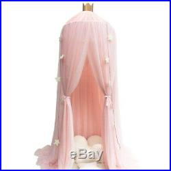 (Pink) Dome Princess Bed Canopy Kids Mosquito Net Play Tent Hanging House