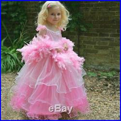Pink Frilly Milly Dress With Boa Kids Costume 3 5 years