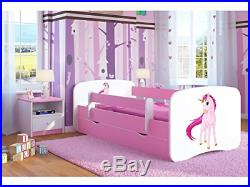 Pink Toddler Girl Bed Kids Bed Princess Horse Children's Single Bed with and