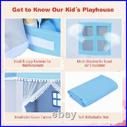 Play Tent Girls House Castle Foldable Princess Indoor Pink Kids Children Toys
