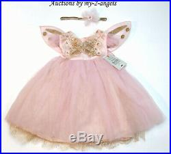 Pottery Barn Kids BABY PINK BUTTERFLY FAIRY HALLOWEEN COSTUME 12-24 MOS princess