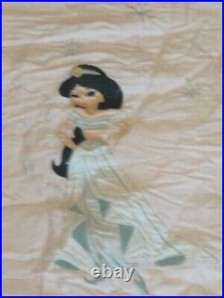 Pottery Barn Kids Disney Princess Bedding With Pillow. Flaw blush full/ queen