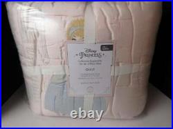 Pottery Barn Kids Disney Princess Full Queen Quilt, Blush Color, 86 Square NWT