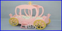 Princess Carriage Pink Bed with Mattress Kid's Bed Kid's Room Color Off
