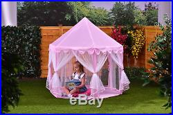 Princess Castle Pink Gorgeous Gazebo For Kids Indoor / Outdoor Play Ideal Gift