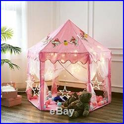 Princess Castle Play House, Large Indoor/Outdoor Kids Play Tent for Girls Pink