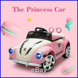 Princess Electric RC Remote Control MP3 Car Kids Toy Toddlers Beetle Police Gift