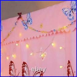 Princess Four Corner Post Bed Curtain Canopy Mosquito Net for Girls Adults Kids
