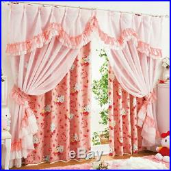 Princess Kitty Blackout curtain and boiled lace curtain 4 pieces SET 100×150cm