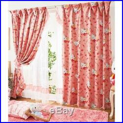 Princess Kitty Blackout curtain and boiled lace curtain 4 pieces SET 100×185cm