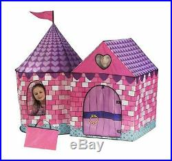 Princess Tent For Girls Pop Up Castle Kids Playhouse Pink Indoor Girl Play House