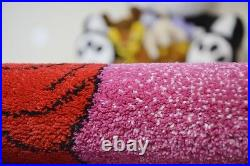 Rugs Soft and Tight Children Carpet Kids C425 Pink Princess Red Dress