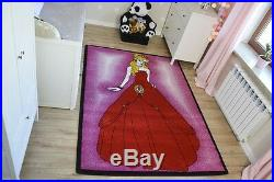 Rugs Soft and Tight Children Rug Kids C425 Pink Princess Red Dress