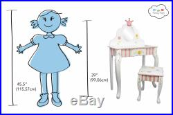 SOLD OUT Fantasy Fields Princess & Frog Girls Wooden Vanity Stool Kids Dress Up