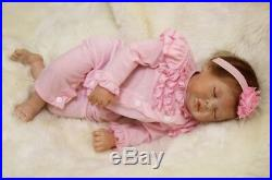 Similation Sleeping Pink Princess 22'' Soft Silicone Reborn Baby Doll Kids Toy