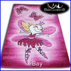 THICK RUGS HAPPY CARPET KIDS PRINCESS PINK Children Extra X LARGE Soft High Pile
