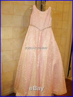 Tiffany Princess 13573 Pink Girls Pageant Gown Dress sz 12 AUTHENTIC