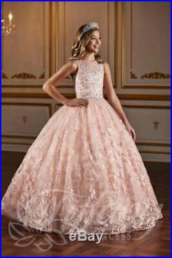 Tiffany Princess 13578 Pink Stunning Girls Pageant Gown Dress sz 8 NWT AUTHENTIC