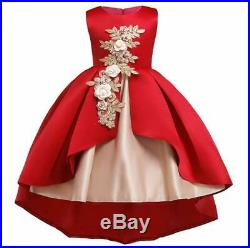Toddler Girl Clothes Kids Flower dresses for Wedding Party Birthday Princess NEW