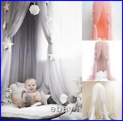 UK Kids Baby Bed Canopy Bedcover Mosquito Net Princess Curtain Bedding Dome Tent